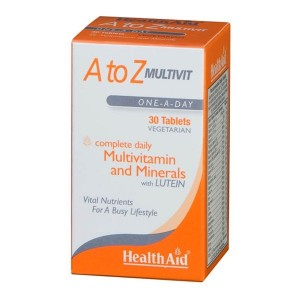 HEALTH AID - A to Z Multivit and Minerals with Lutein | 30tabs