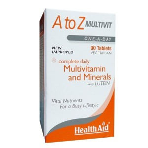 HEALTH AID - A to Z Multivit and Minerals with Lutein | 90tabs
